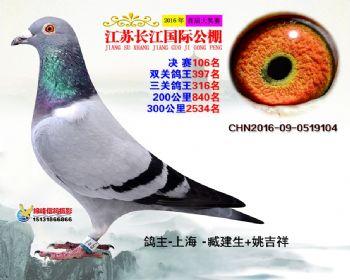 江苏长江决赛106名
