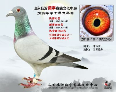 山东翔宇决赛73名